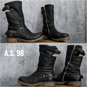 Free People A.S. 98 Serge Leather Moto boots